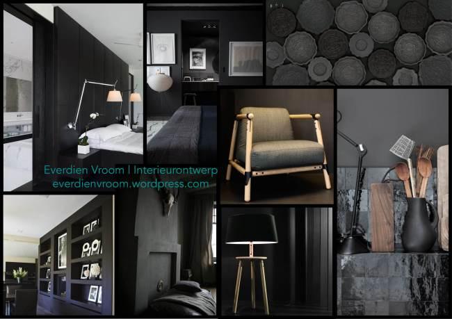 Everdien Vroom Interieurontwerp | moodboard_zwart