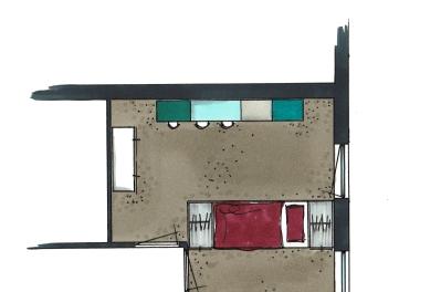Detail slaapkamer 2 De Lier | Everdien Vroom Interieurontwerp
