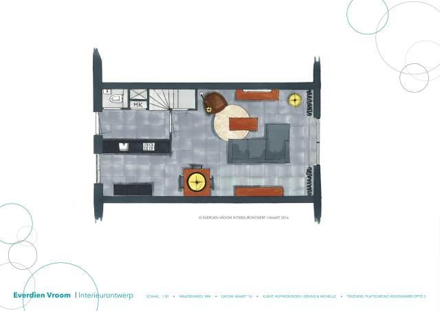 Plattegrond met uitbouw Hofwoningen Dennis & michelle14