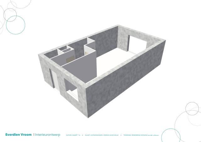 Perspectief hofwoningen rijswijk | Everdien Vroom Interieurontwerp