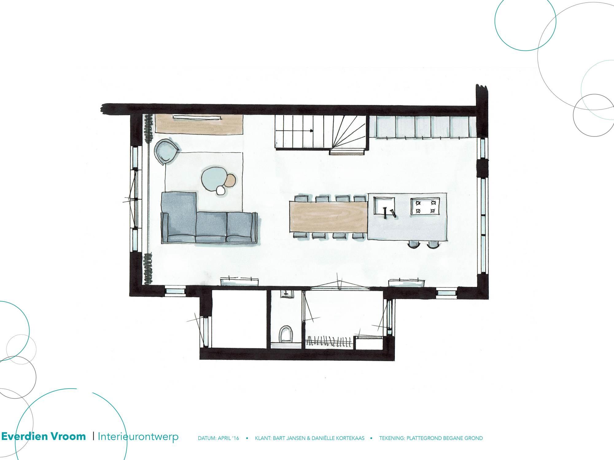 Interieurontwerp naaldwijk 2016 everdien vroom for Keuken tekenen